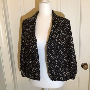 Black Blazer with Beige Polka Dots